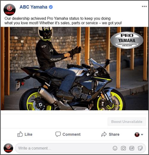 Yamaha Motorsports | ThumbStopper | Social Media for Dealerships